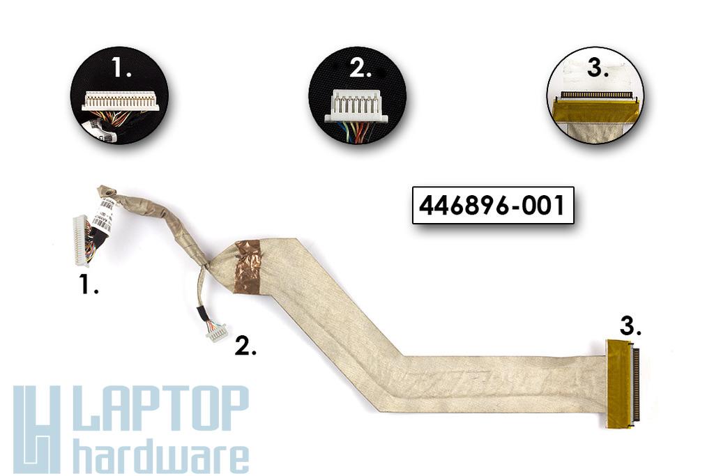 """HP Compaq 6710b sorozathoz használt LCD kábel (15.4""""), 446896-001"""