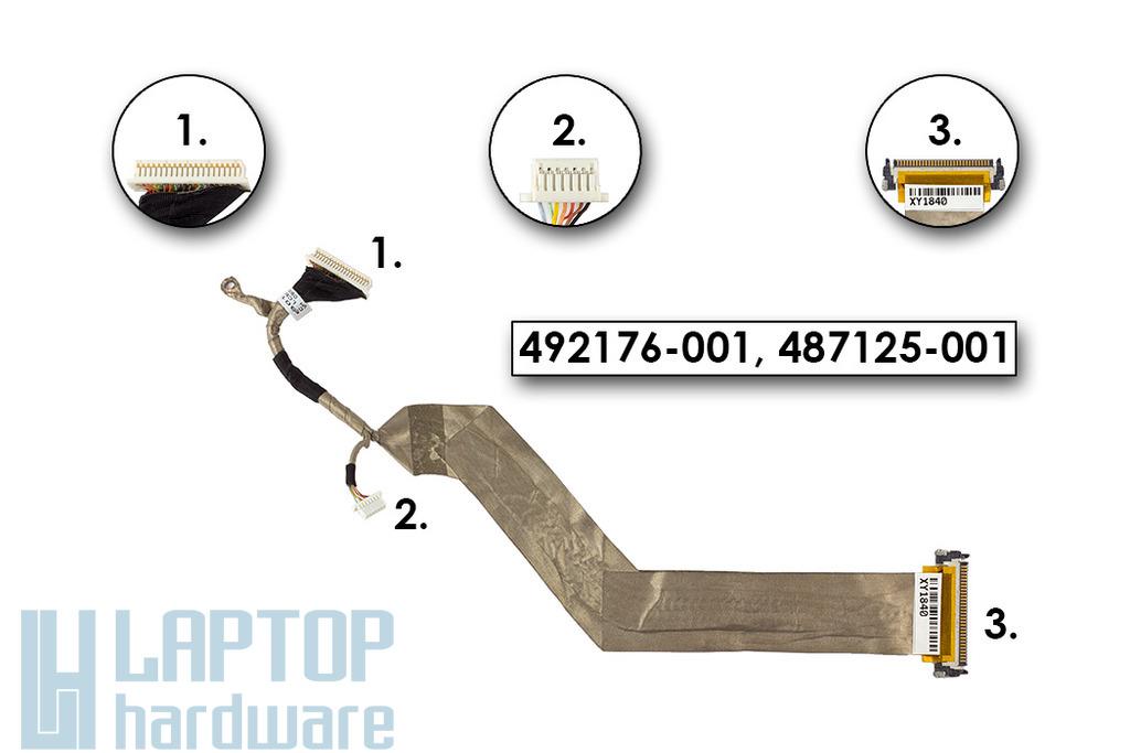 HP Compaq 6730b, 6730s, 6735b, 6735s használt LCD kijelző kábel (SPS 492176-001)