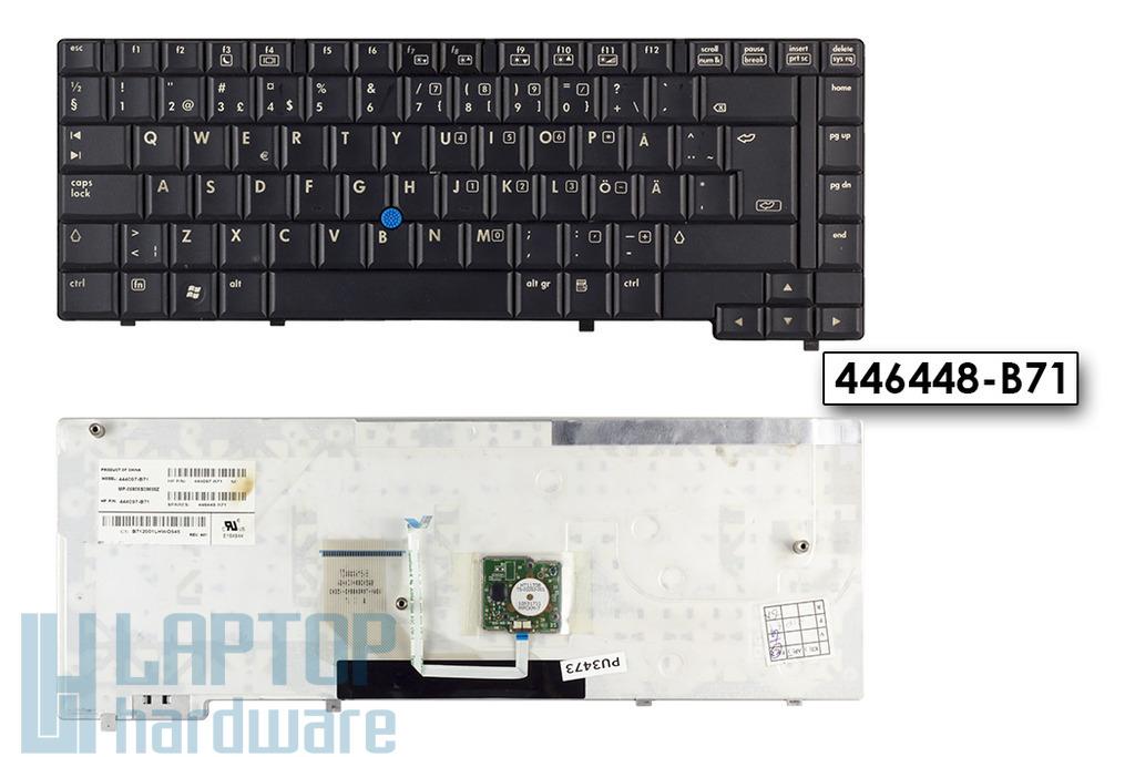HP Compaq 6910p használt svéd laptop billentyűzet, 446448-B71