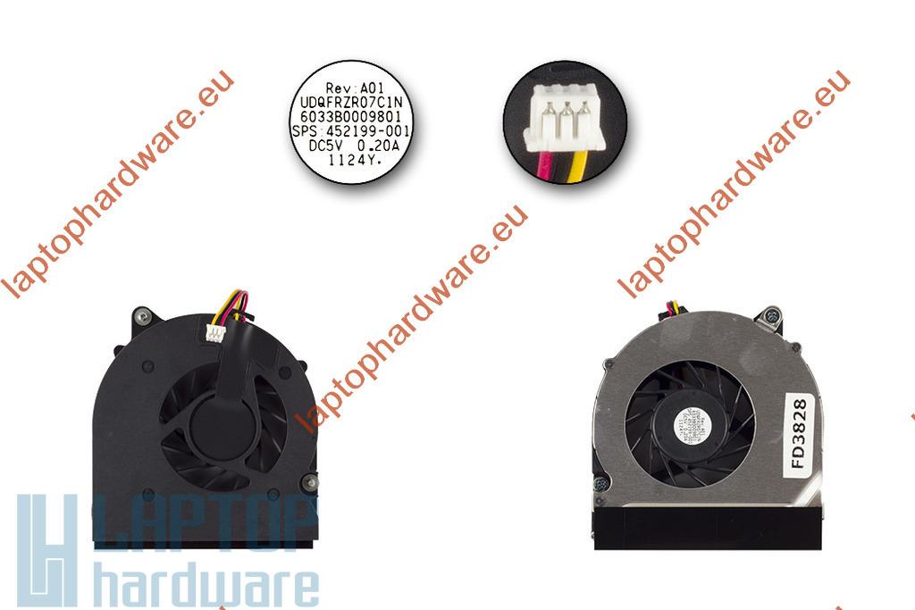HP Compaq 8510p, 8510w használt hűtőventilátor, 452199-001