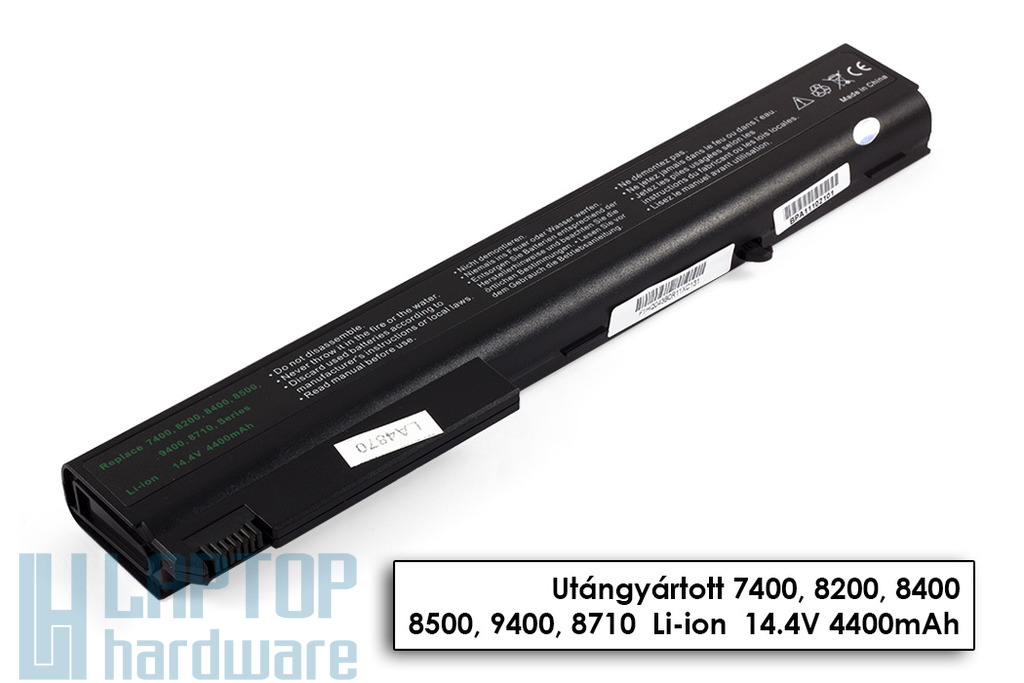 HP Compaq 8510p, nc8200, nw9440 helyettesítő új 8 cellás laptop akku/akkumulátor (HSTNN-DB11)