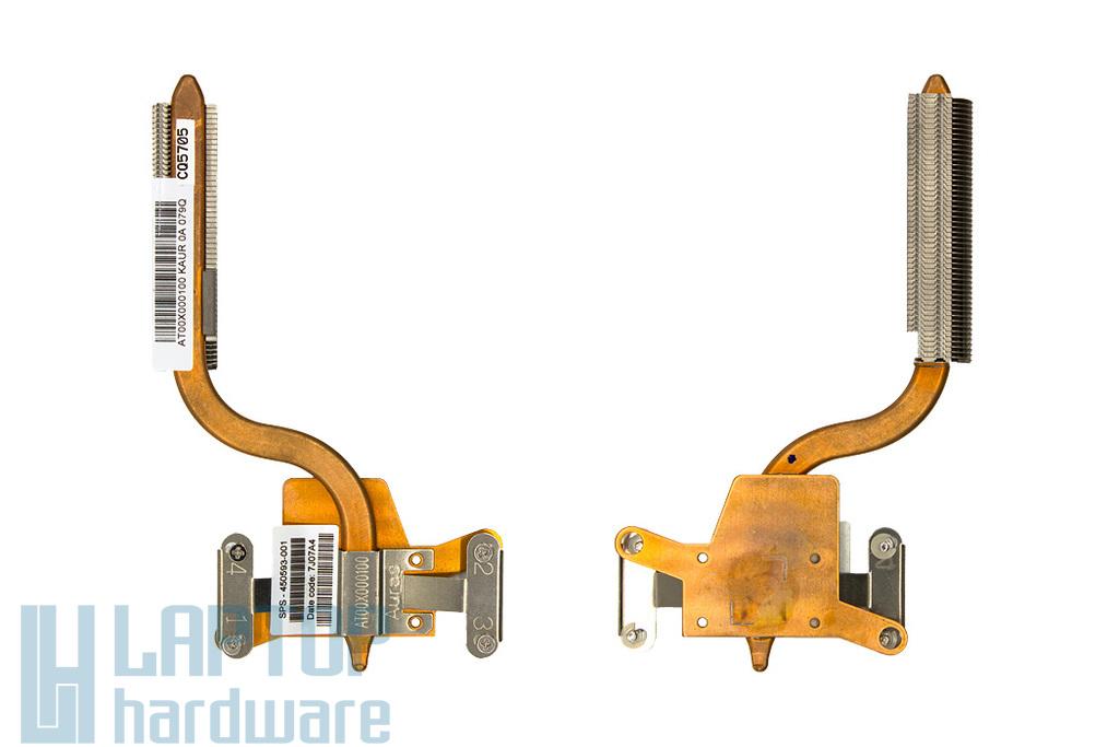 HP Compaq 8710p, 8710w használt laptop hűtőborda (450593-001)