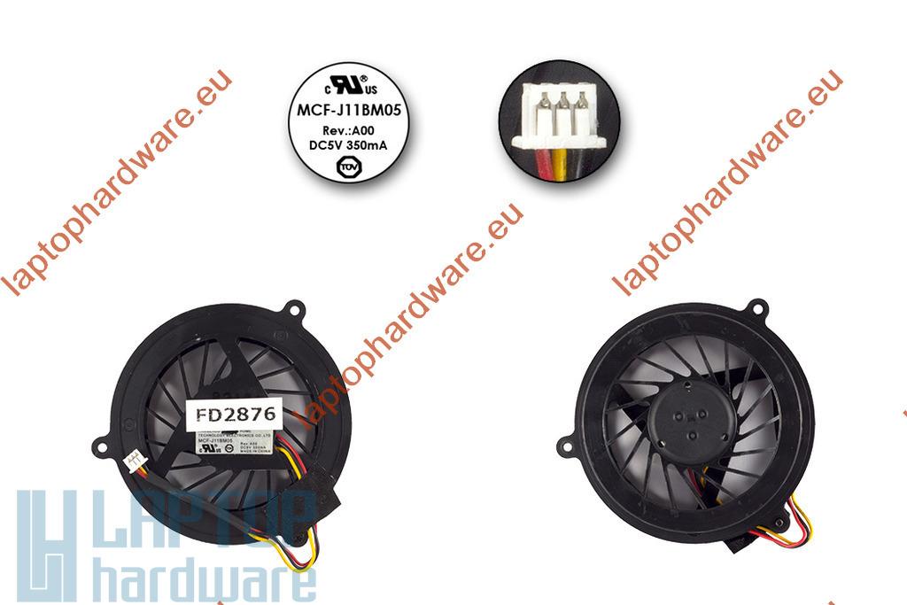 HP Compaq 8710p, 8710W laptop használt hűtő ventilátor, MCF-J11BM05