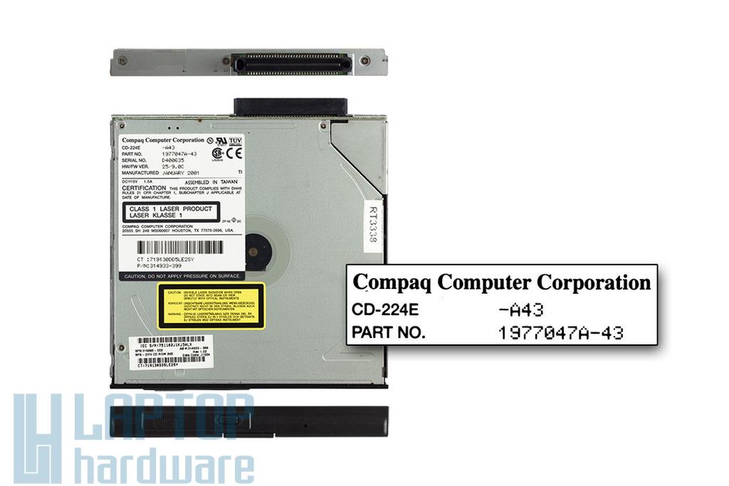 HP Compaq Armada M700 laptophoz használt CD olvasó 24x (CD-224E, 315082-002)
