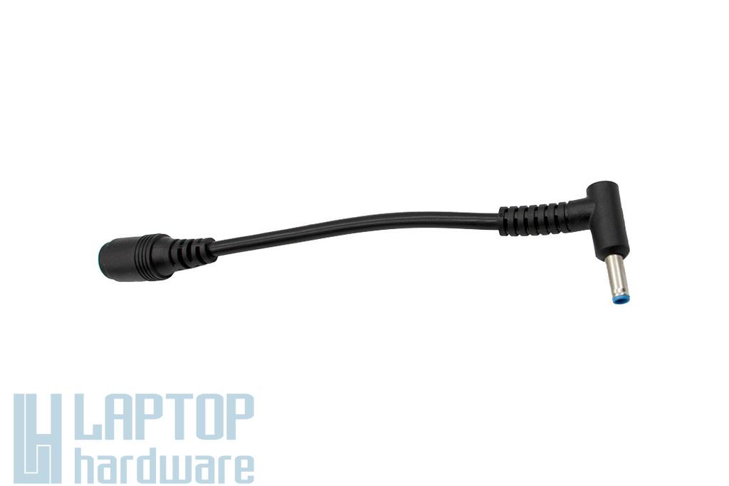 HP Compaq center pin (7,4x5,0) - vékony center pin (4,5x3,0) töltő átalakító kábel