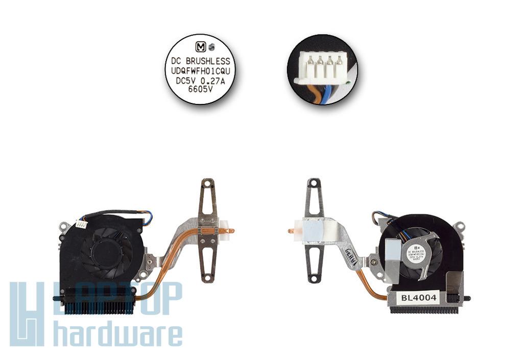 HP Compaq nc2400 gyári új hűtő ventilátor (UDQFWFH01CQU)