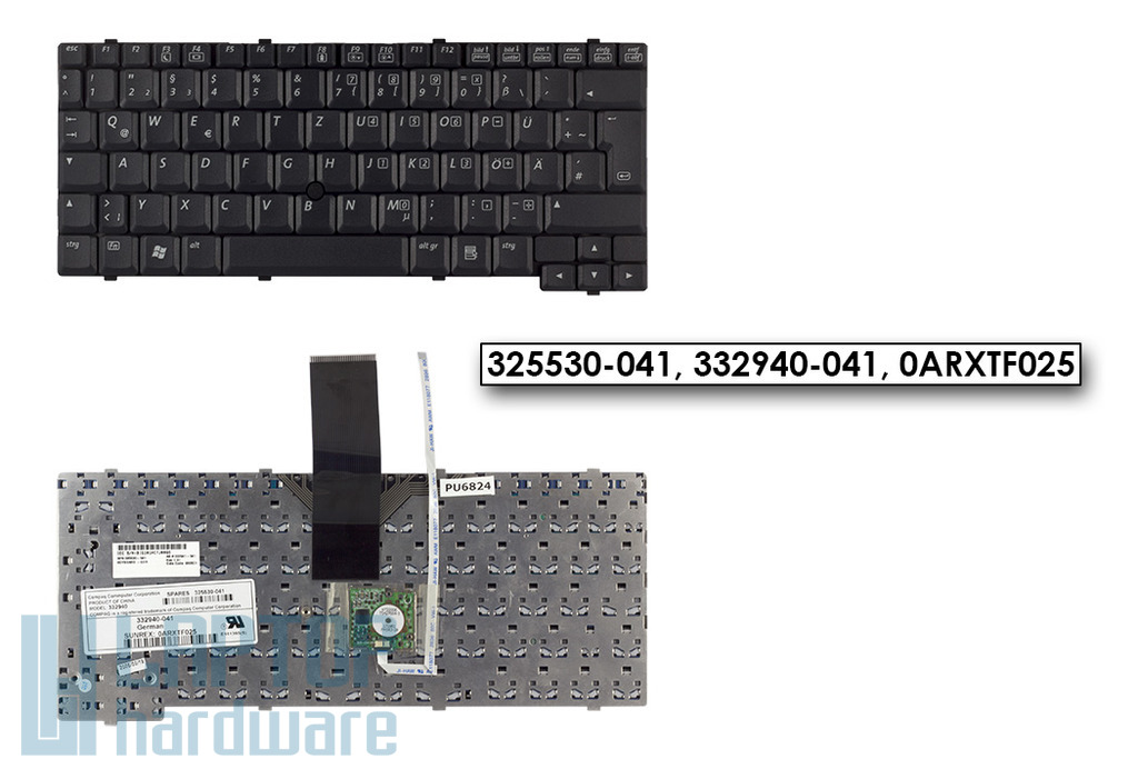 HP Compaq nc4000, nc4010 gyári új német laptop billentyűzet (325530-041)