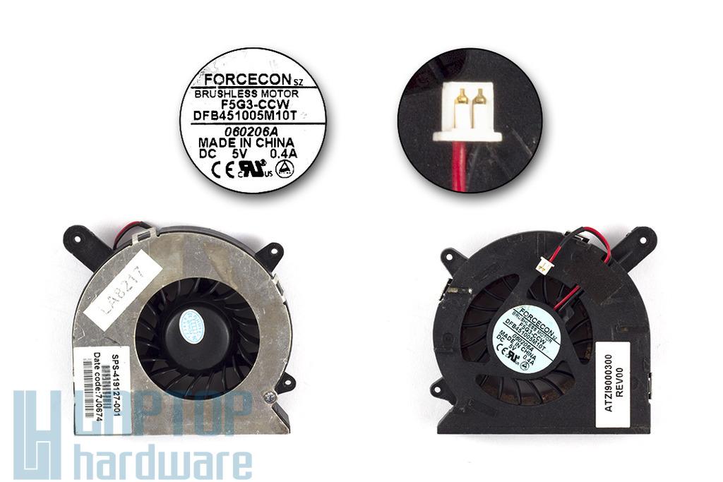 HP Compaq nc4200, nc4400, nx6115, nx6125, tc4400 használt laptop hűtő ventilátor (SPS 419127-001)