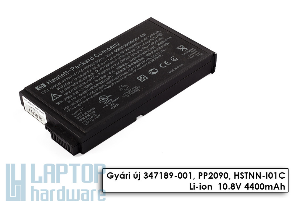HP Compaq nc6000, nx5000, Presario V1000 használt 6 cellás 50%-os laptop akku/akkumulátor (HSTNN-DB01)