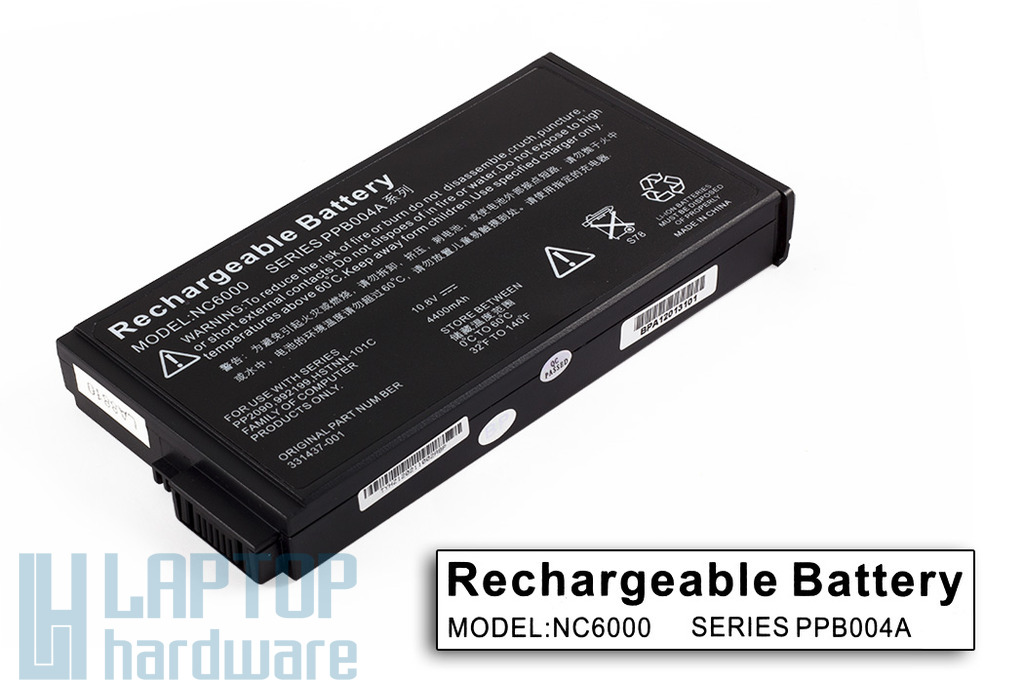 HP Compaq nc6000, nx5000, Presario V1000 helyettesítő új 6 cellás laptop akku/akkumulátor (HSTNN-IB01, PPB004A)