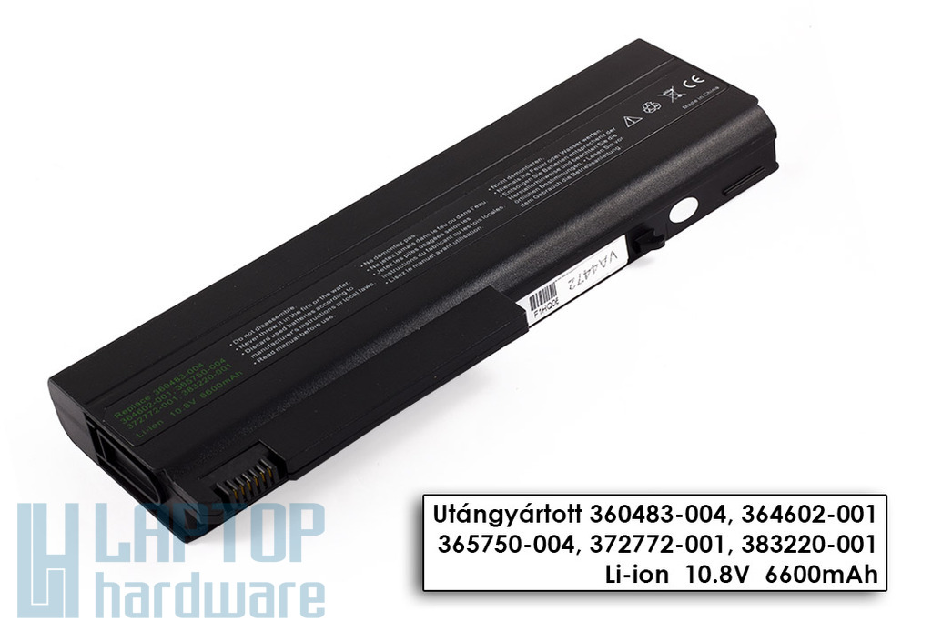 HP Compaq NC6100, NX6100, NX6315 helyettesítő új 9 cellás laptop akku/akkumulátor (HSTNN-IB28)