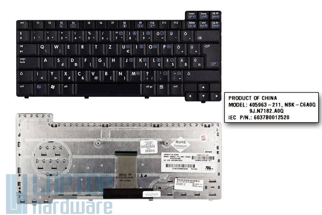 HP Compaq nc6110, nc6320, nx6110, nx6310 gyári új magyar laptop billentyűzet (SPS 416039-211)