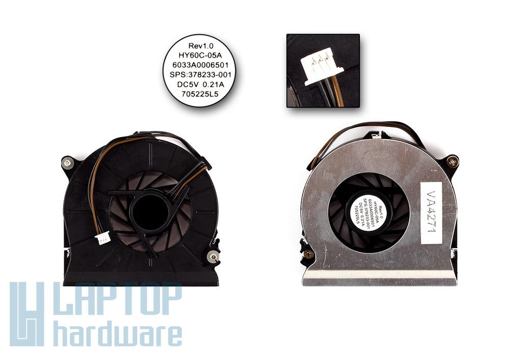 HP Compaq nc6110, nc6320, nx7300, nx7400 gyári új laptop hűtő ventilátor (SPS 378233-001)
