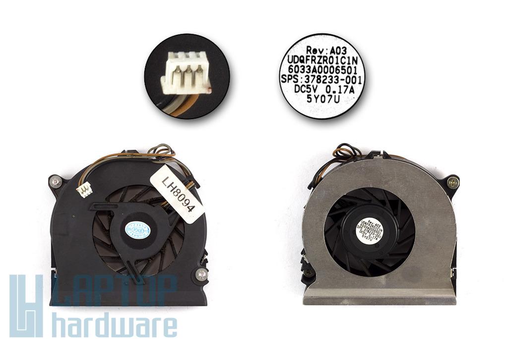 HP Compaq nc6120, nx6110, nx7300, nx7400 használt laptop hűtő ventilátor (SPS 378233-001)
