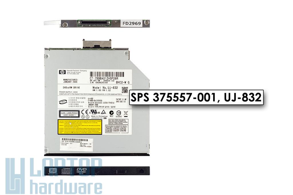 HP Compaq nc6220, nc6230 laptophoz használt DVD-író (SPS 375557-001),  UJ-832