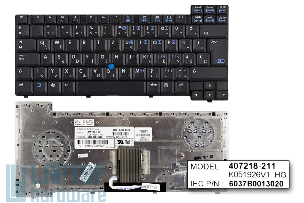 HP Compaq nc6220, nc6230 gyári új magyar laptop billentyűzet (SPS 416416-211)