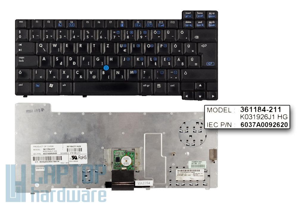 HP Compaq nc6220, nc6320 használt magyar laptop billentyűzet (361184-211)