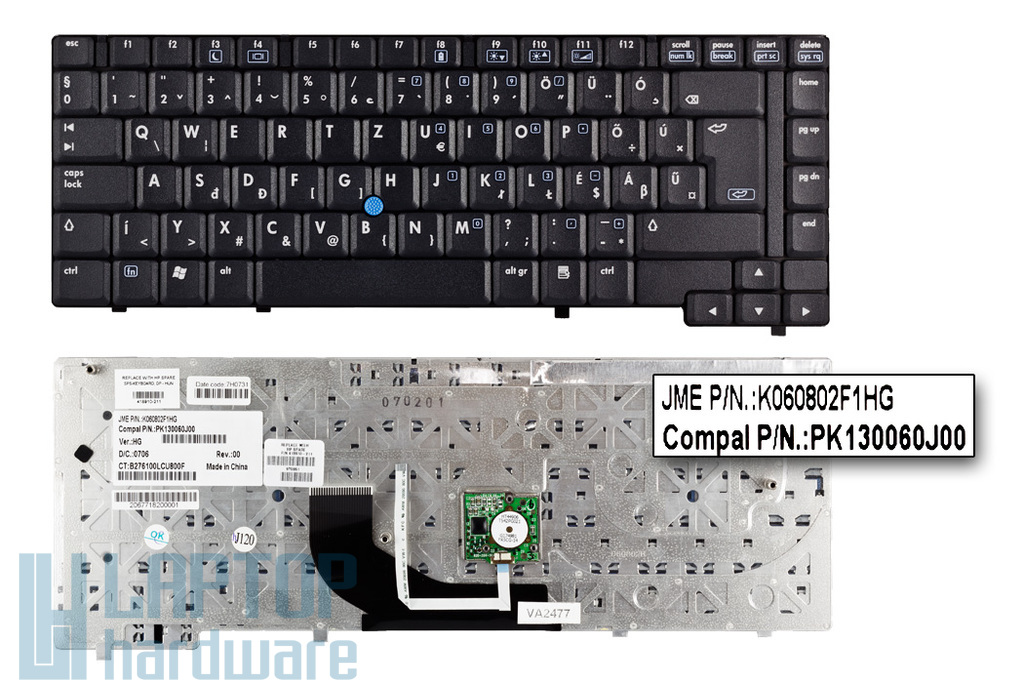 HP Compaq nc6400 gyári új magyar laptop billentyűzet (418910-211)