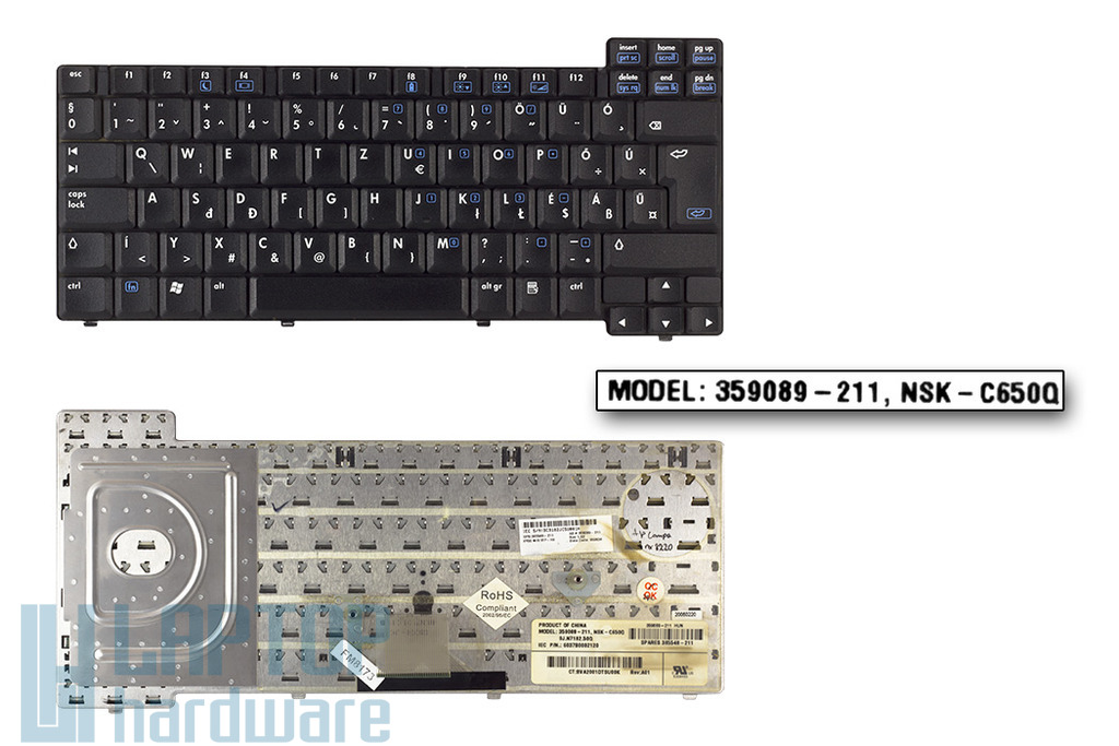 HP Compaq nc8220, nc8230, nx7300, nx7400 laptop billentyűzet (SPS 359089-211)
