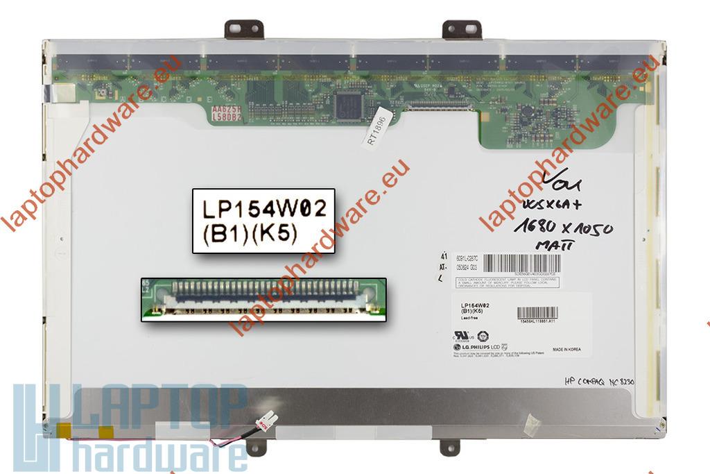 LG LP154W02-TL10 használt matt 15,4-inch WSXGA+ (1680x1050) laptop kijelző