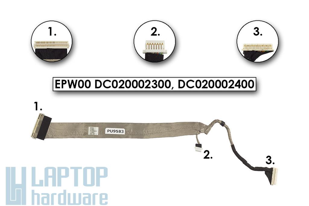 HP Compaq NX6125 sorozathoz laptophoz használt Kijelző Kábel  (15 XGA)11/19/05
