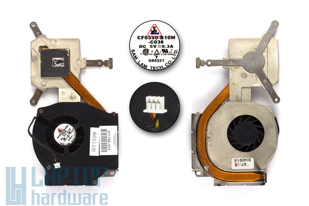 HP Compaq nx9000 sorozat, Pavilion ze4400, ze4900 használt komplett laptop hűtő ventilátor egység (371796-001)