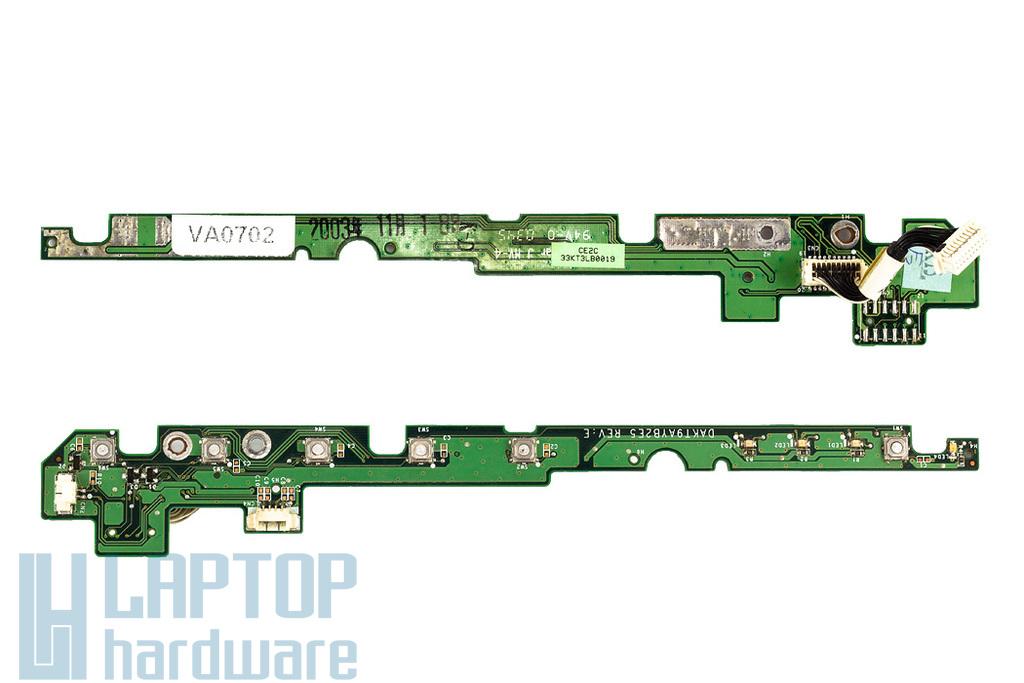 HP Compaq nx9005 Használt Bekapcsoló panel, átvezető kábellel (33KT3LB0019)