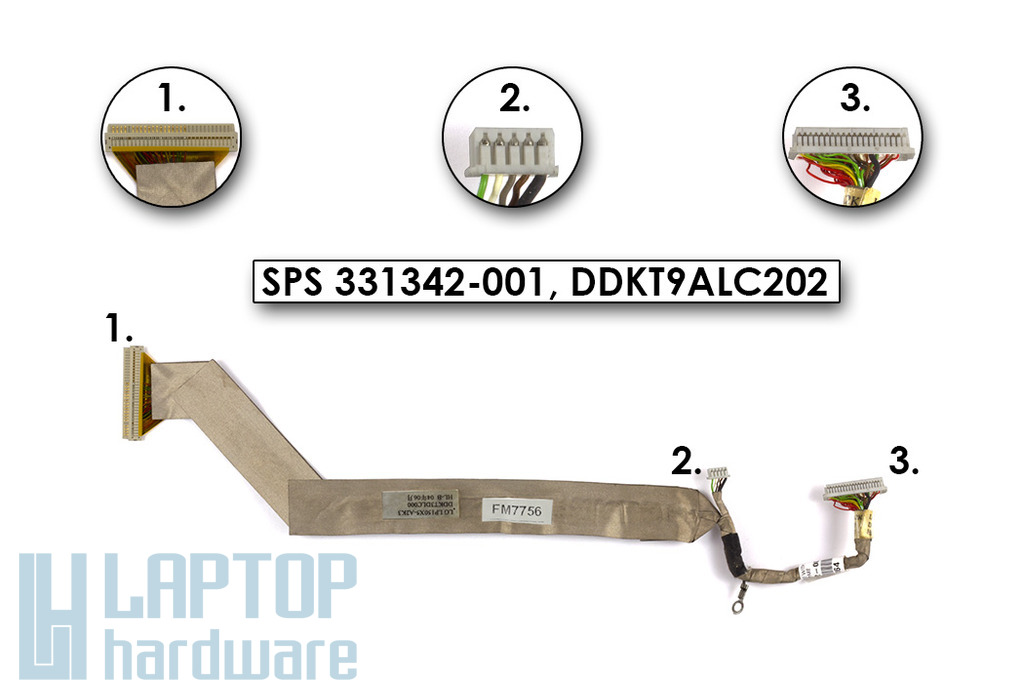 HP Compaq nx9010 laptophoz használt Kijelző kábel (15inch, XGA) (SPS 331342-001)