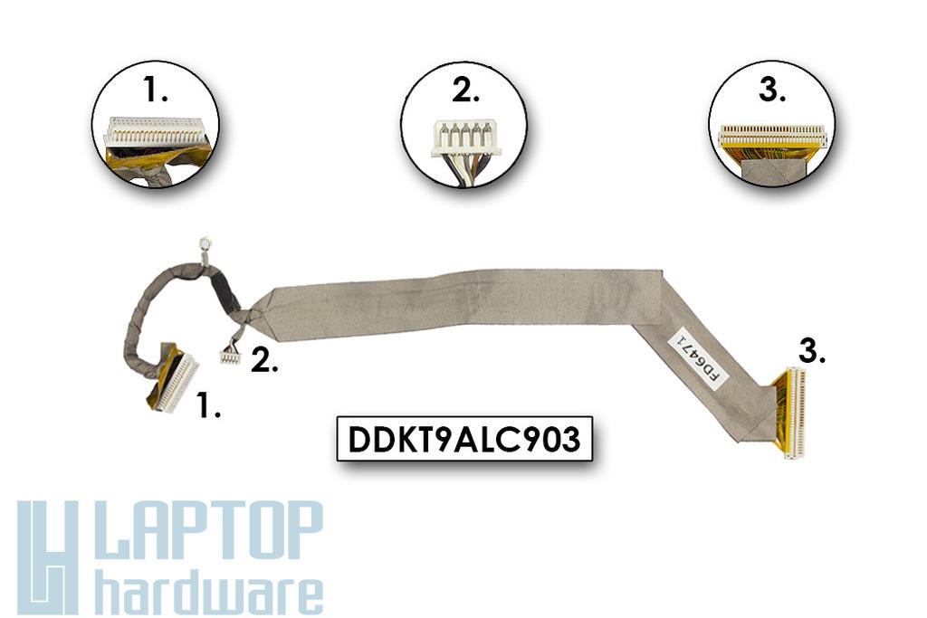 HP Compaq nx9010, Pavilion ze4300 laptophoz használt Kijelző kábel (15inch, XGA)(DDKT9ALC903)