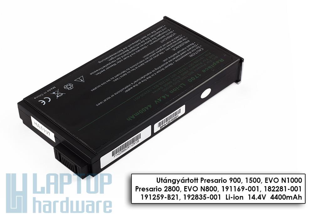 HP Compaq Presario 900, Evo n160, nc6000 helyettesítő új 8 cellás laptop akku/akkumulátor (190336-001)