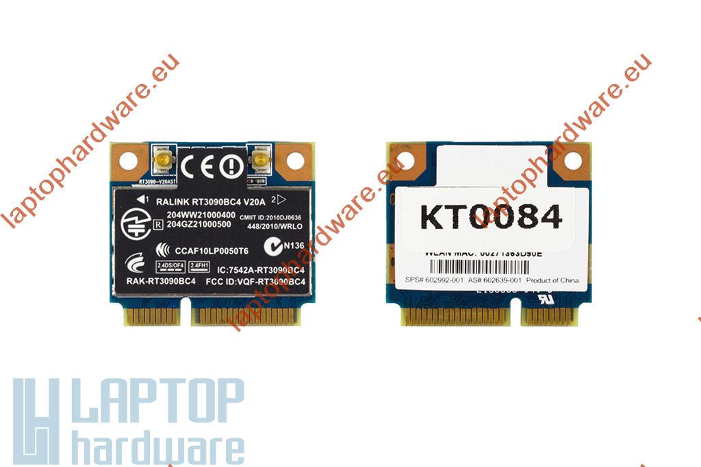 HP CQ56, 4320s, 4520s használt Mini PCI-e (half) WiFi és bluetooth kártya, 602992-001, RT3090BC4