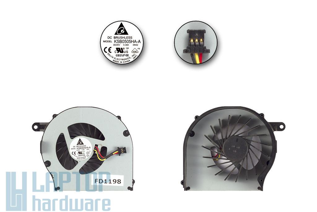 HP CQ72, G62, G72 használt laptop hűtő ventilátor (KSB0505HA-A)