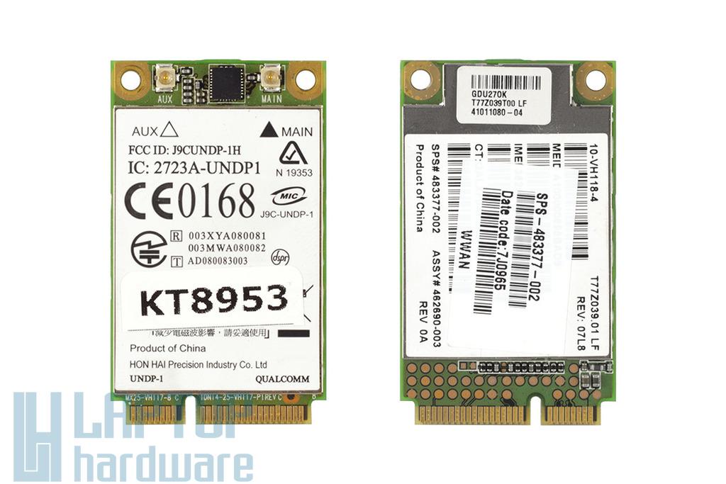 HP EliteBook 2530p, 2730, 6930, 8530 használt HSDPA modem,(J9CUNDP-1H)