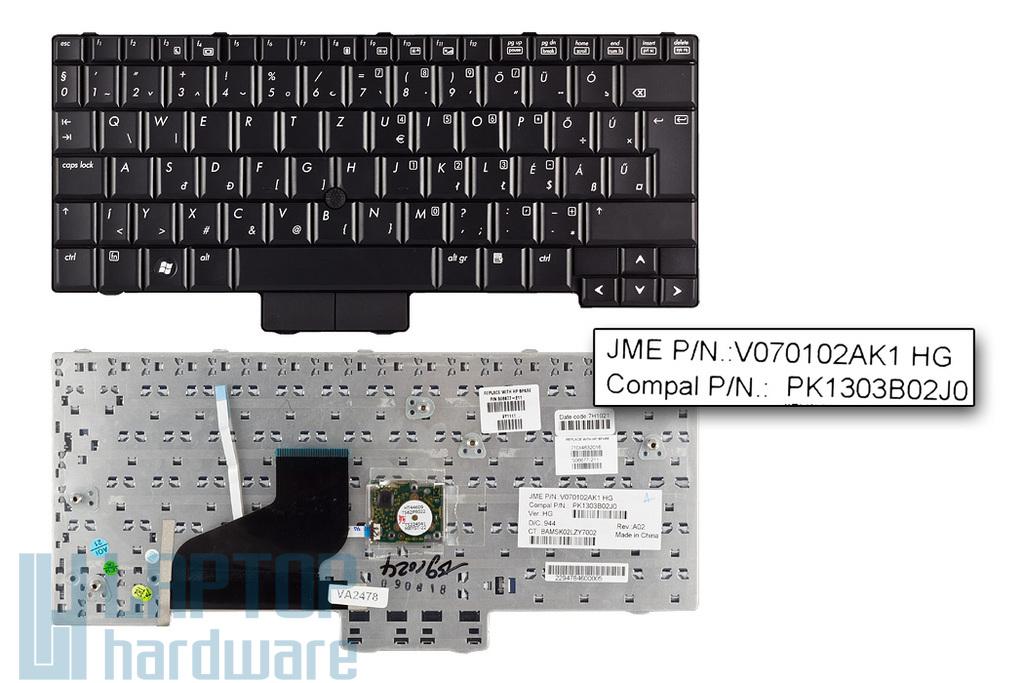 HP EliteBook 2530p, Compaq 2510p, 2530p gyári új magyar laptop billentyűzet (SPS 506677-211)