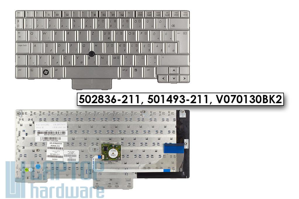 HP EliteBook 2730p gyári új ezüst magyar laptop billentyűzet (SPS 502836-211)