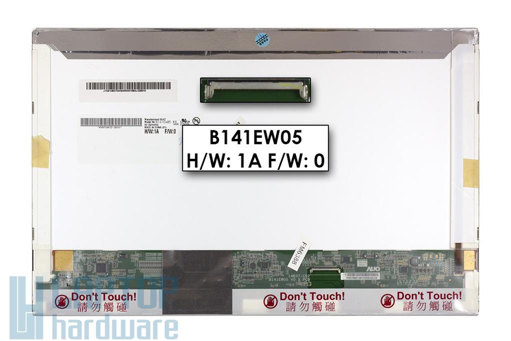 Gyári új fényes 14.1'' (1280x800) LED kijelző HP EliteBook 6930p laptopokhoz (csatlakozó: 40 pin - jobb)
