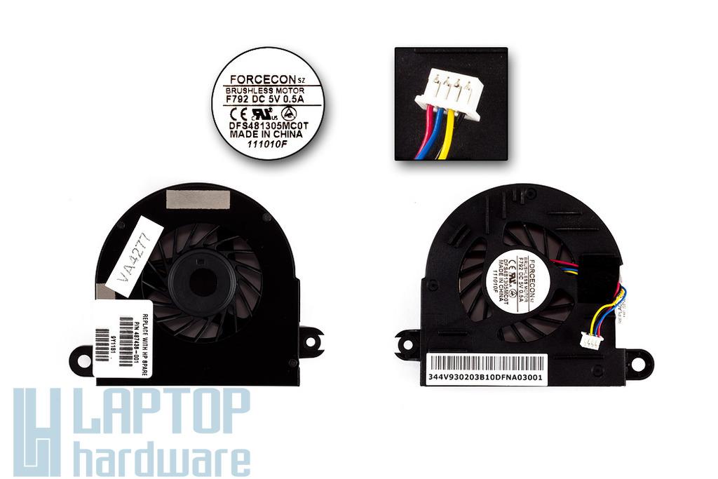 HP EliteBook 6930p gyári új laptop hűtő ventilátor (SPS 487436-001)