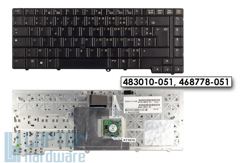 HP EliteBook 6930p használt francia laptop billentyűzet (468778-051)