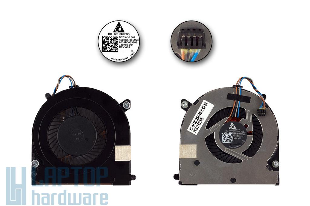 HP EliteBook 740, 840 ZBook 14 gyári új hűtő ventilátor (KSB0805HB-CM23, 730792-001)