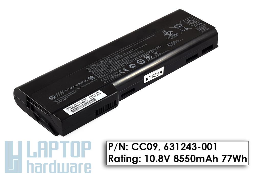 HP EliteBook 8460w, 8460p, 8560p gyári új 9 cellás laptop akku/akkumulátor  CC09, 631243-001