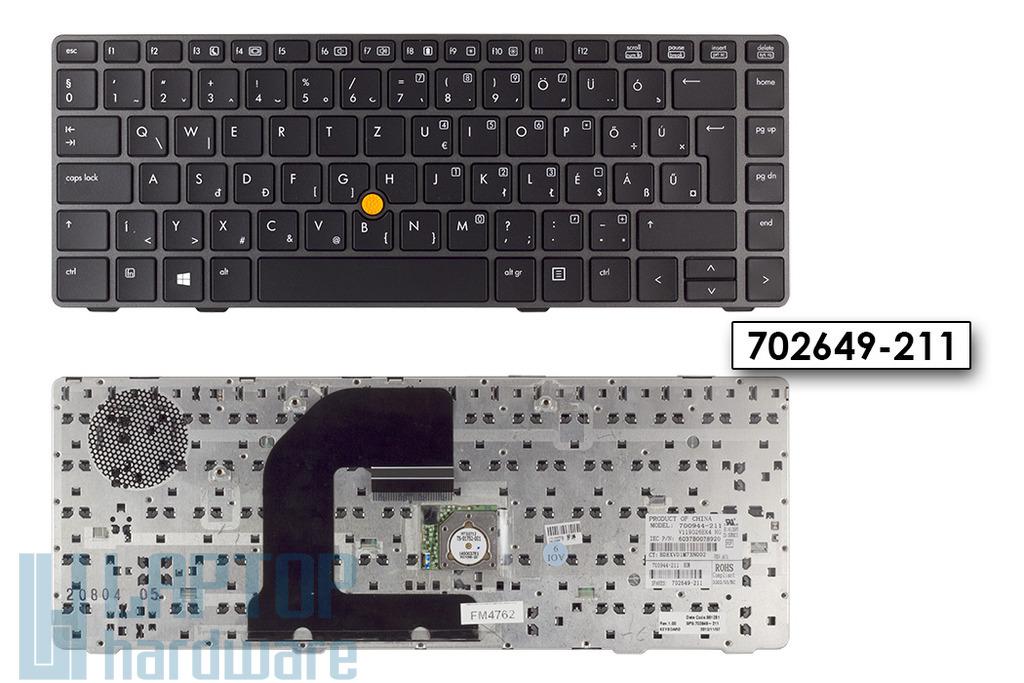 HP EliteBook 8470p, 8470w laptop billentyűzet, SPS 702649-211