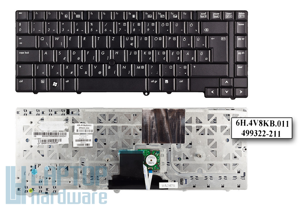 HP EliteBook 8530p, 8530w gyári új magyar laptop billentyűzet (SPS 495042-211)