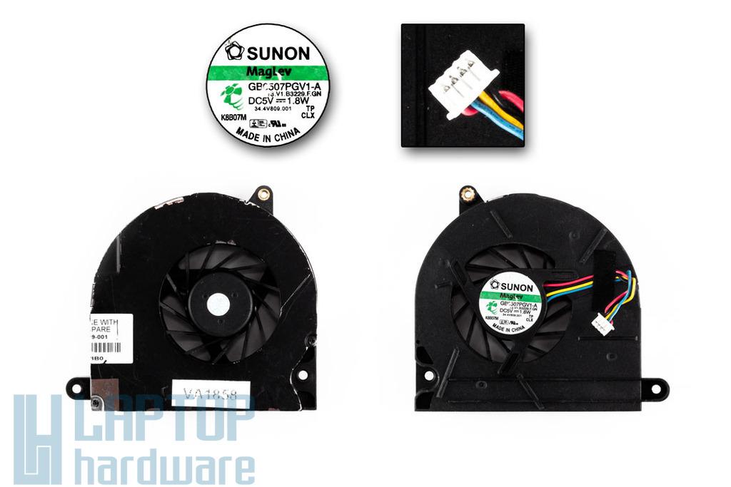 HP EliteBook 8530p, 8530w használt hűtő ventilátor SPS 495079-001, vékony