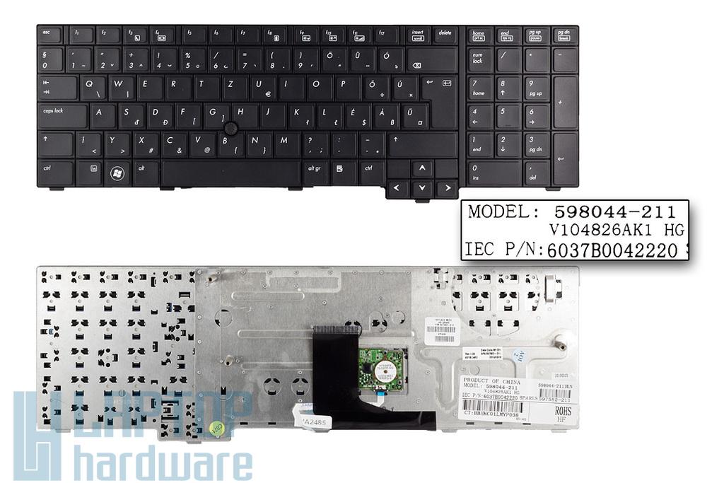 HP EliteBook 8740W gyári új magyar laptop billentyűzet (597582-211)