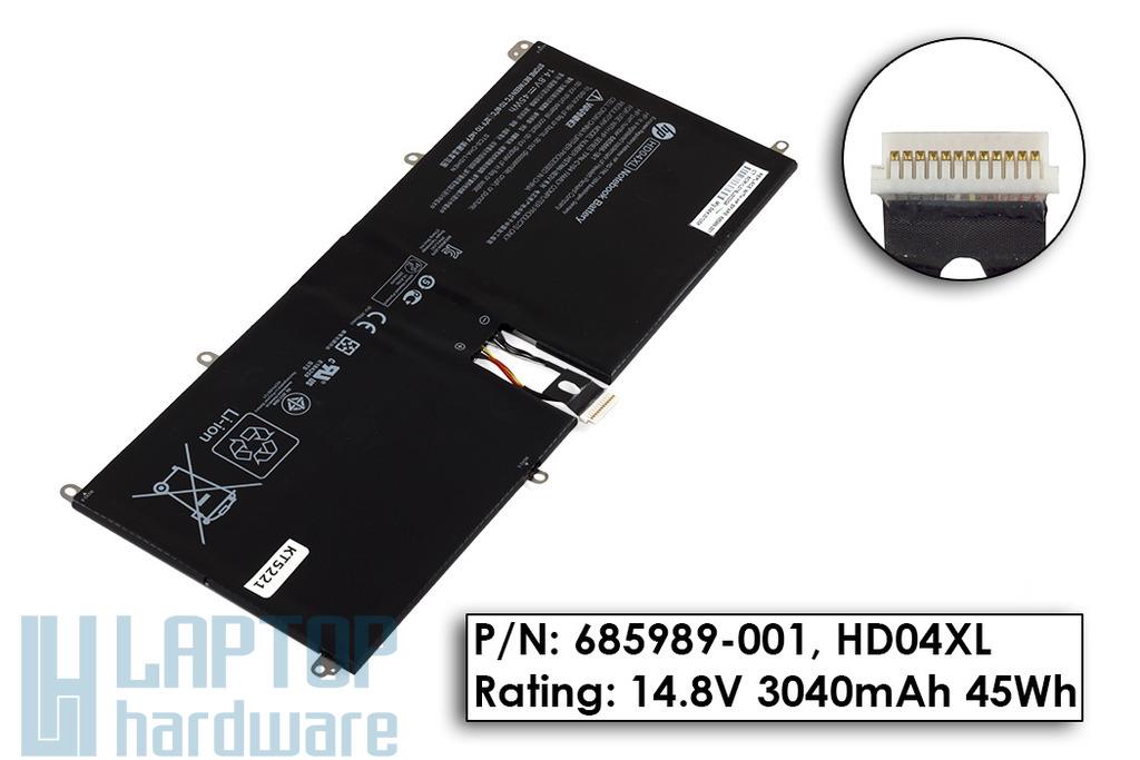 HP Envy Spectre XT 13-2000 laptophoz használt gyári 90%-os 4 cellás laptop akku/akkumulátor  685989-001