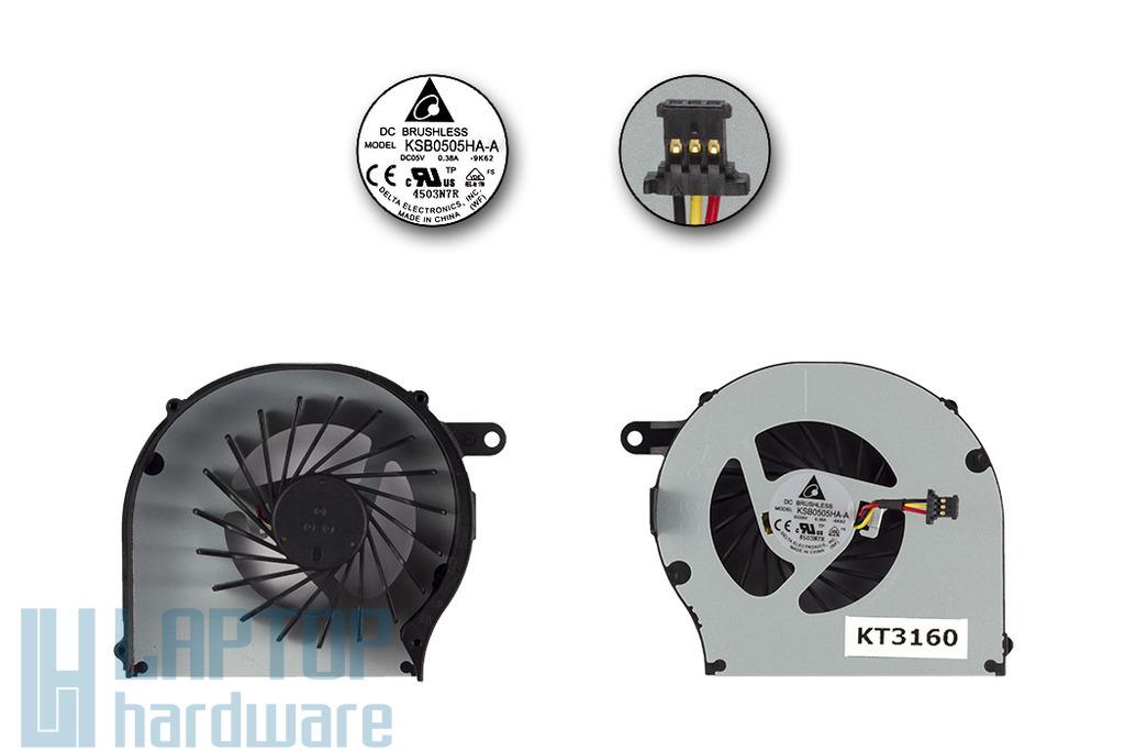 HP G62, G72, Compaq CQ62 gyári új laptop hűtő ventilátor (KSB0505HA-A)