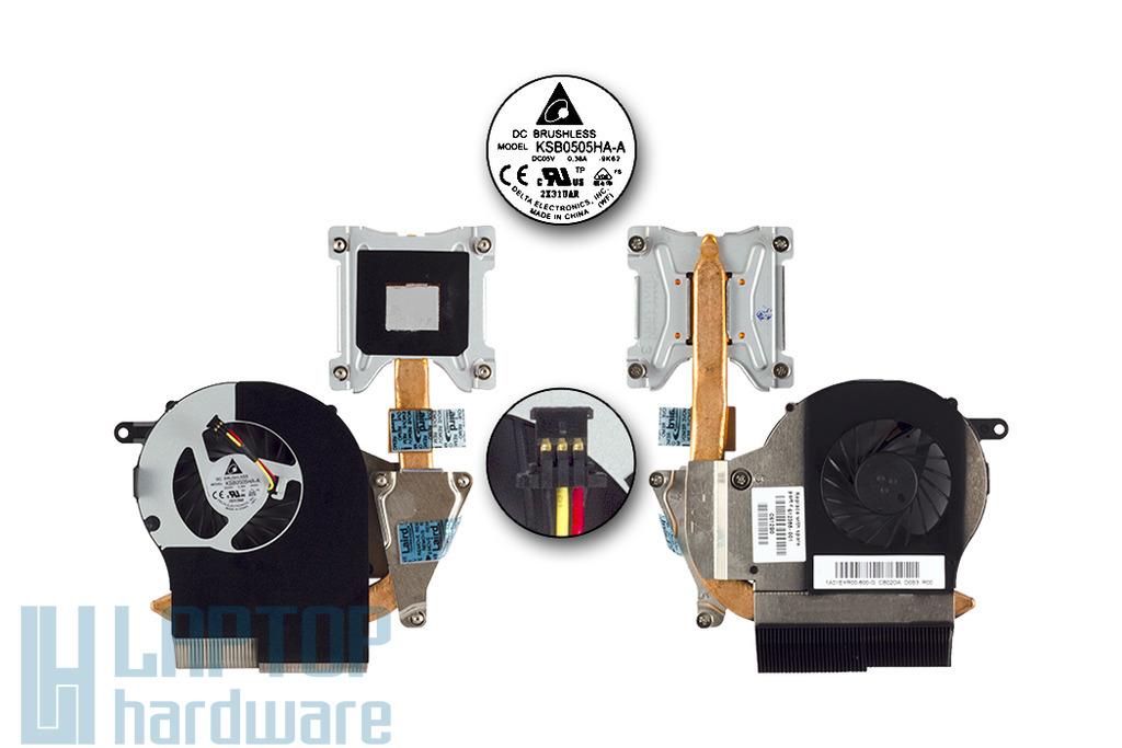 HP G62 gyári új laptop hűtő ventilátor egység, thermal module, 612355-001