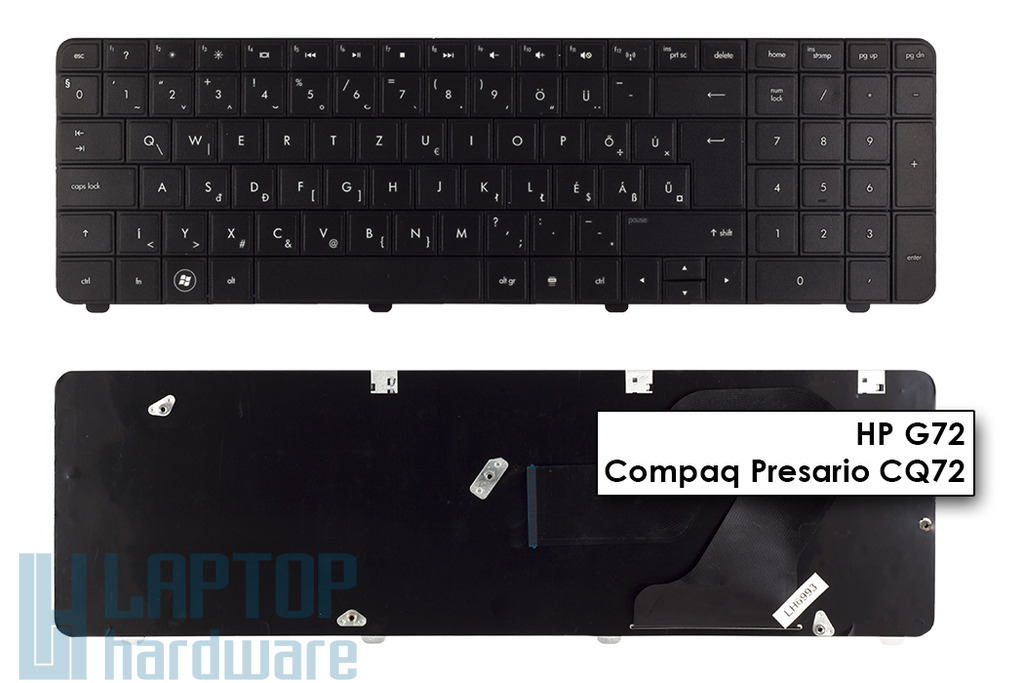 HP G72, Compaq Presario CQ72 gyári új magyar laptop billentyűzet, 615850-211