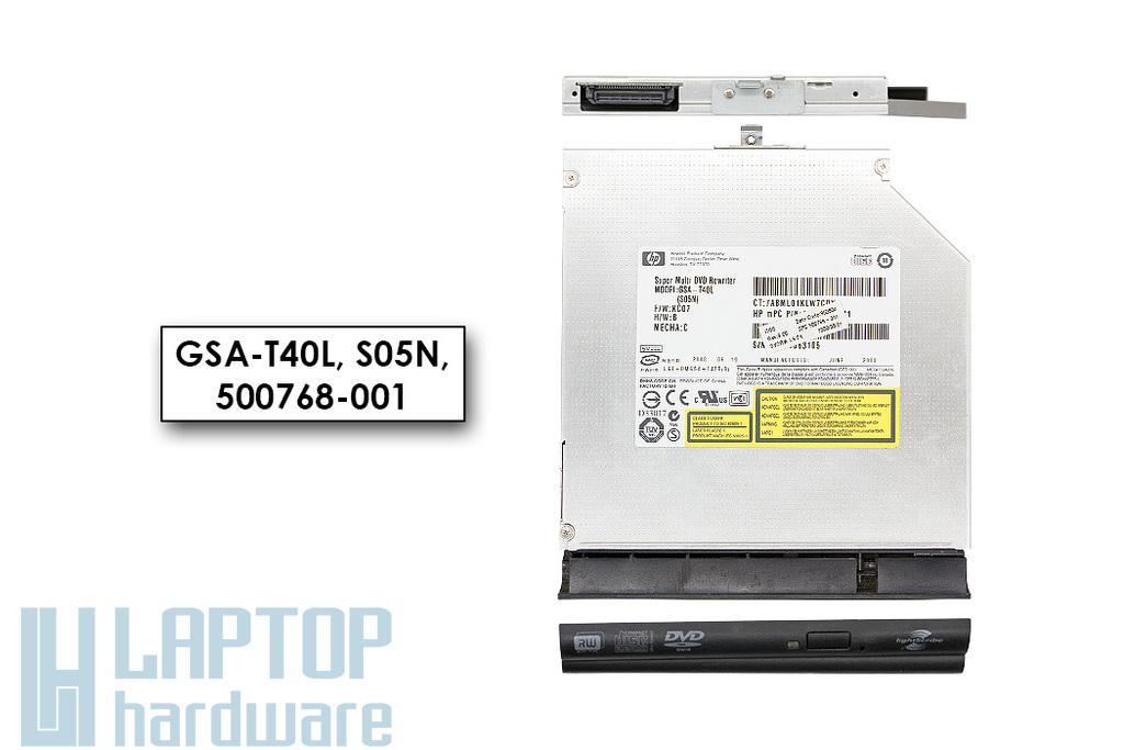 HP használt IDE (PATA) laptop DVD-író előlappal (GSA-T40L, 500768-001)
