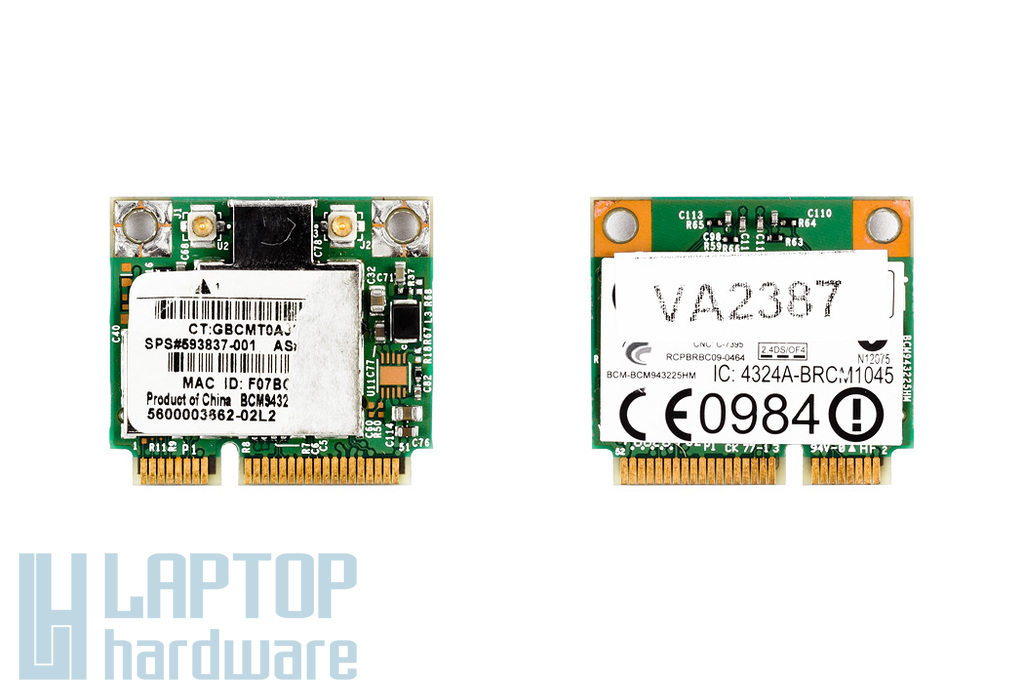 HP laptophoz Broadcom  mini WIFI kártya SPS 593837-001